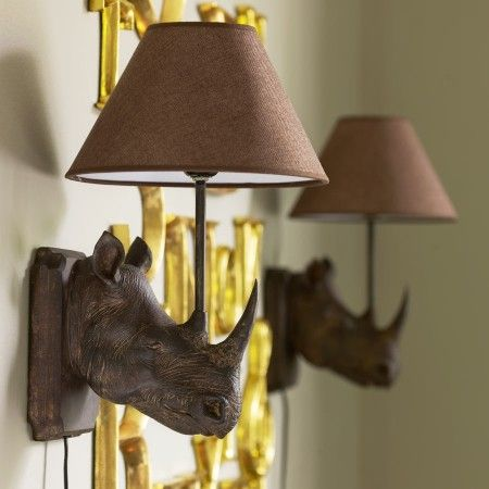 Rhino Wall Lamp - View All Gifts - Gifts For... - Gifts