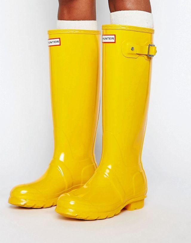 #Hunter Original Tall Gloss Yellow #Wellingtons #wellingtonboots #wellies