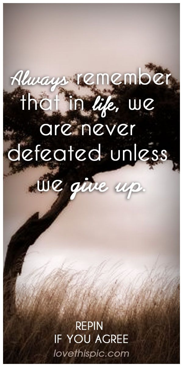 Never defeated