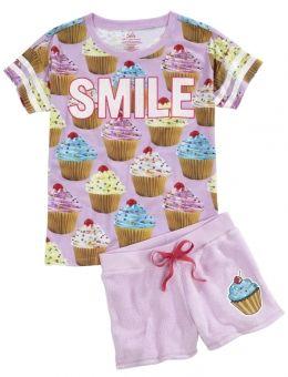 Cupcake Smile Pajama Set