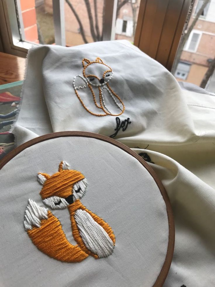 Embroidery. Mr. Fox