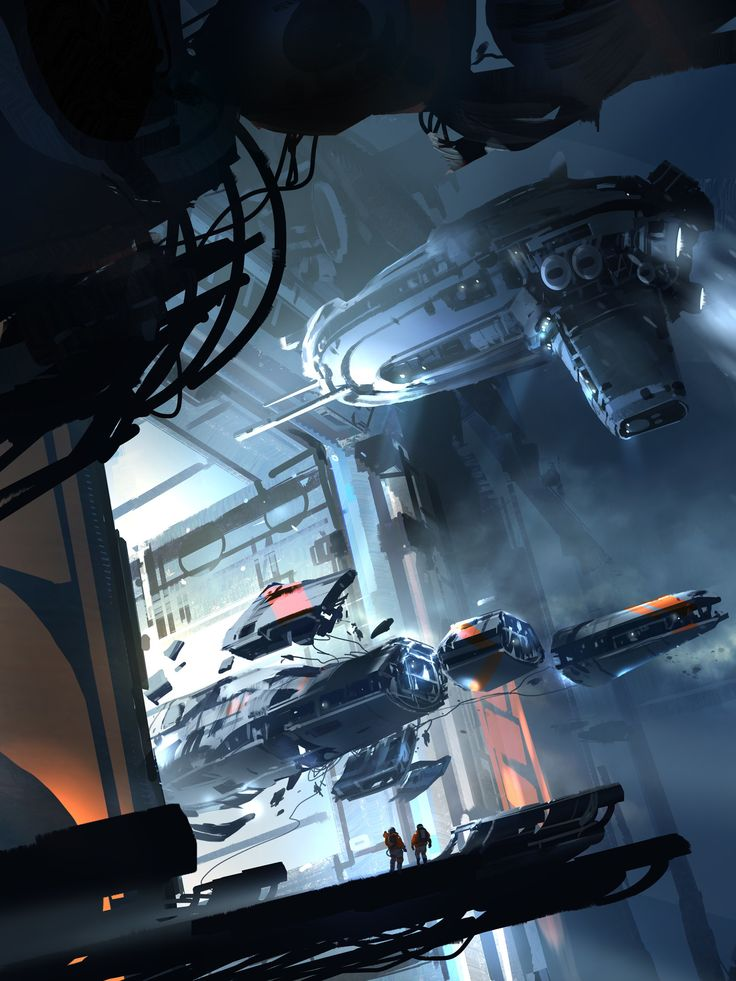 Salvage ships coming to dock, #spaceopera #scifi inspiration