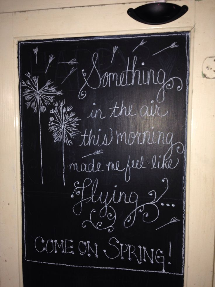 44 Best Chalkboard Spring Images On Pinterest