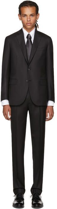 Brioni Black Madison Suit