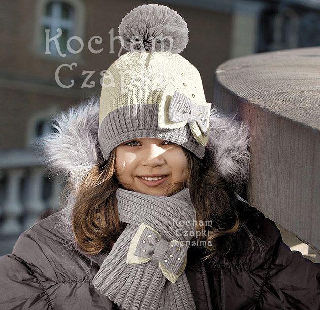 Komplet Alina jasny krem + szary rozm. 54-56 cm