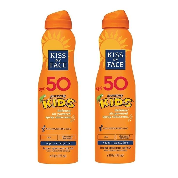 Kiss My Face SPF 50 Kids Defense Continuous Spray Sunscreen, 6 Oz