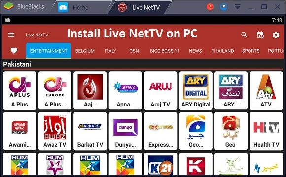 Live Net TV for PC (Windows 7/8/8.1/10) Free Download