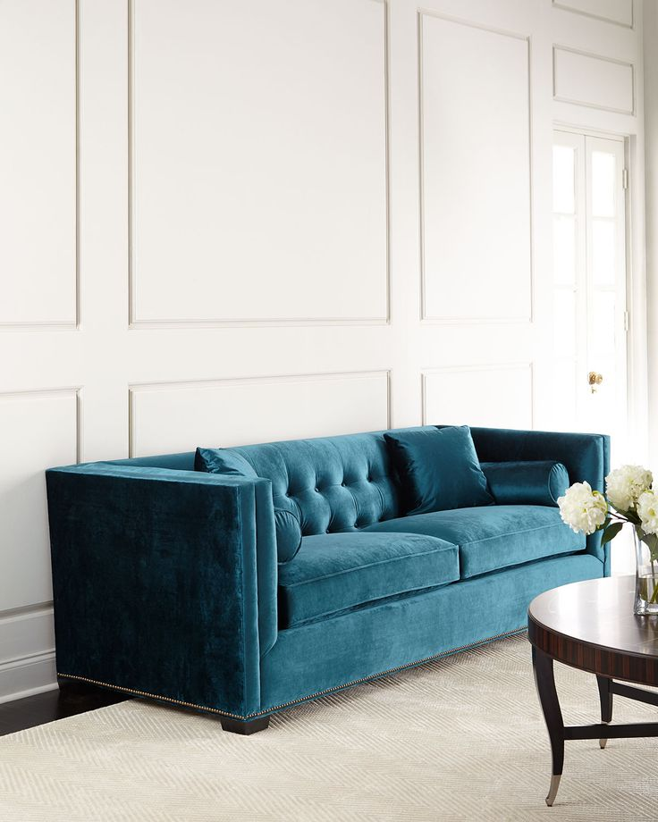 25 Best Ideas About Tufted Couch On Pinterest: 25+ Best Ideas About Teal Sofa On Pinterest