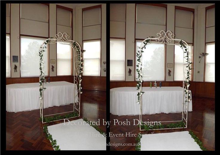#ivoryacrh #ivoryweddingarch #wedding #theming available at #poshdesignsweddings - #sydneyweddings #southcoastweddings #wollongongweddings #canberraweddings #southernhighlandsweddings #campbelltownweddings #penrithweddings #bathurstweddings #illawarraweddings  All stock owned by Posh Designs Wedding & Event Supplies – lisa@poshdesigns.com.au or visit www.poshdesigns.com.au or www.facebook.com/.poshdesigns.com.au #Wedding #reception #decorations #Outdoor #ceremony decorations