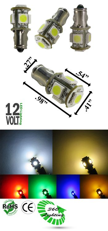 Miniature Bulb Ba7s Base 1 5 Watt 5 Smd Bulb 12v Dc T2 1 2 Automotive Other Ledlight Bulb Led Light Bulb Watt