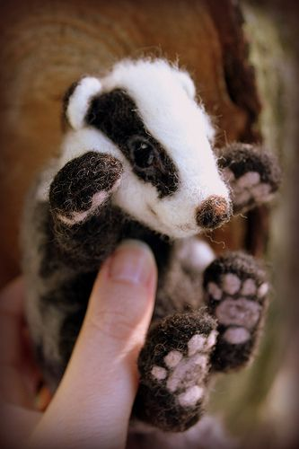 Needle felted badger (4) | Flickr - Photo Sharing!