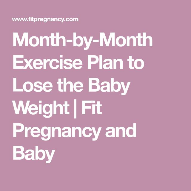 Month-by-Month Exercise Plan to Lose the Baby Weight | Fit Pregnancy and Baby