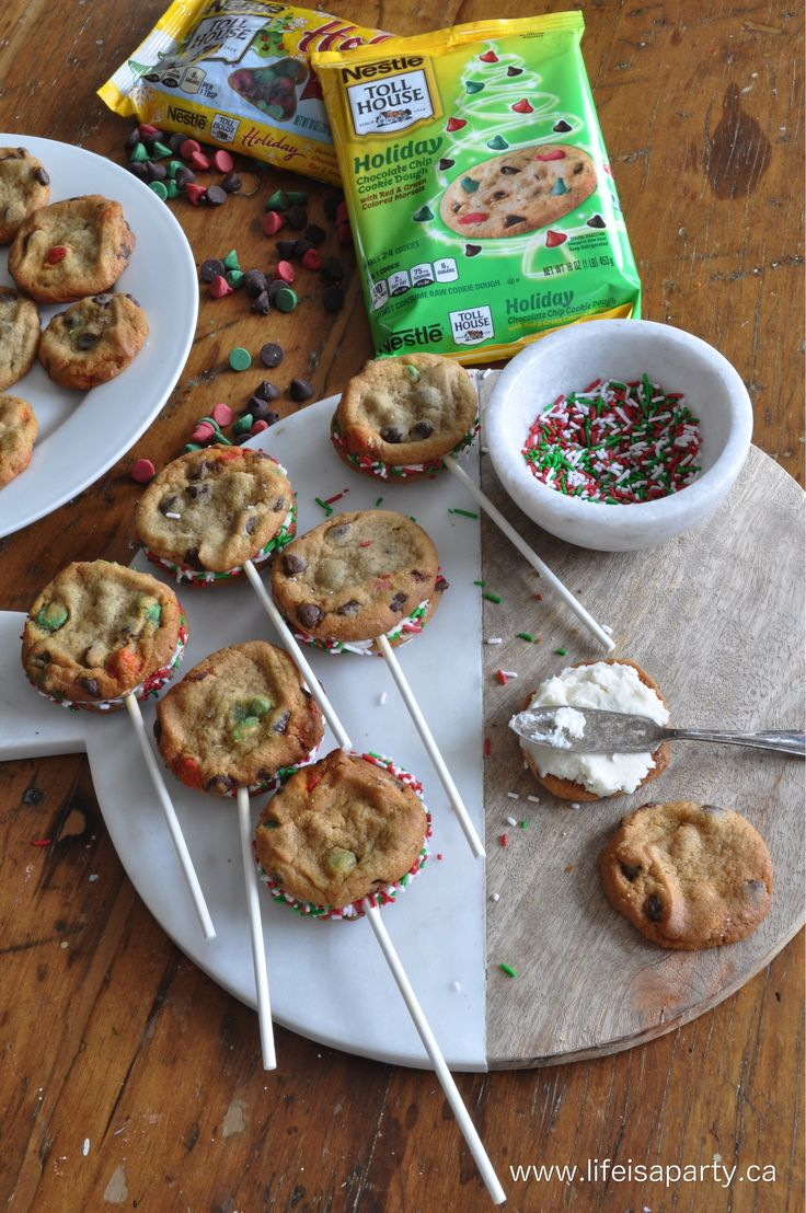 chocolate chip cookie lolipops  #BakeHolidayGoodness #CollectiveBias AD