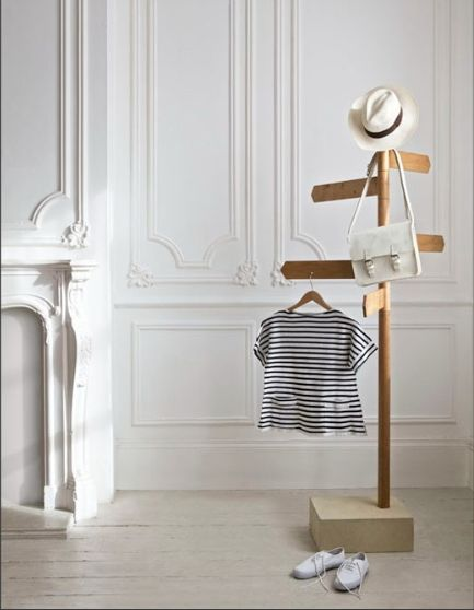 687 Coat Stand by David Restorick Interiors- this is just too cute!  (especially the baby clothes)