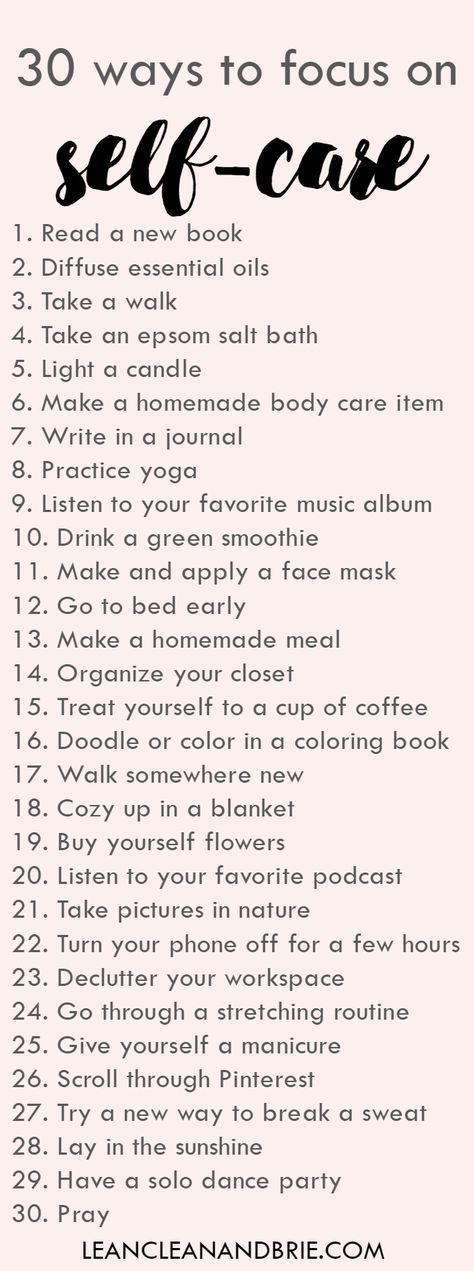 30 ways to focus on self-care | Simple ways to take care of yourself, emotionally, physically, spiritually