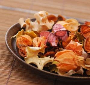 [ DIY: Homemade Potpourri 101 ] Discussion on three components of potpourri:  Fixative, Fragrance, Filler. Discussion on Types to Make: Dry; Moist. Also information on Tools Needed and How to Store. Ingredient Ideas includes a list of Flowers: Lavender, Rose, Pine Cones, Cedar Tips, Eucalyptus; Herbs: Mint, Lemon Balm, Thyme, Rosemary; Spices: Cinnamon Sticks, Cloves, Nutmeg, Vanilla Beans, Anise. Read more about fixatives and ratios ~ from tipnut.com
