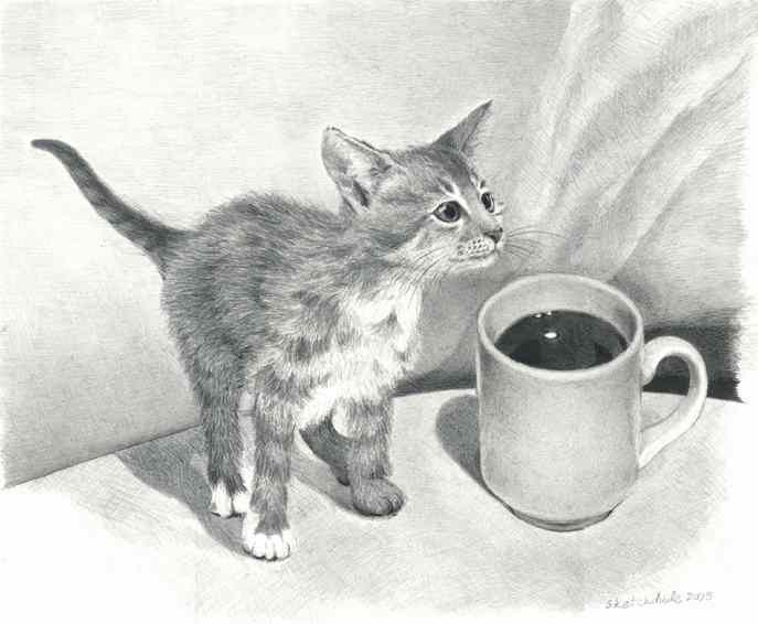 how to draw a mug with shading
