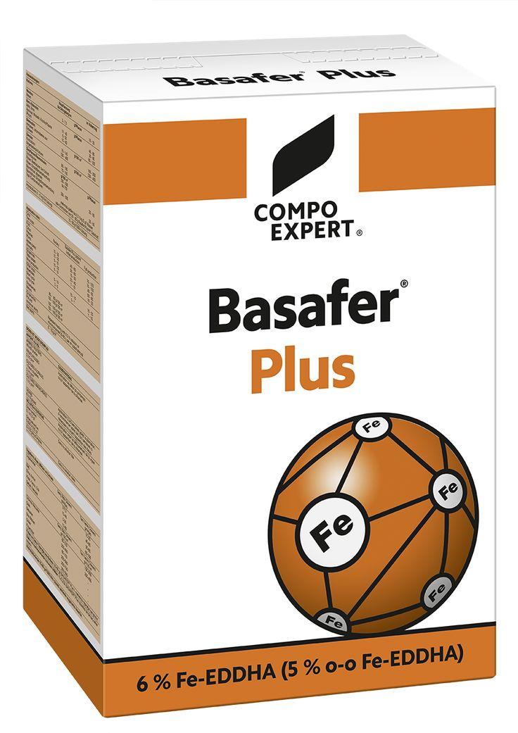 Basafer Plus Χηλικό λίπασμα σιδήρου 6% EDDHA, με περιεκτικότηα 80% σε ortho-ortho. Κορυφαίας καθαρότητας ιδανικός για την πρόληψη και αντιμετώπιση των τροφοπενιών σιδήρου σε κάθε καλλιέργεια. Συνιστάται για εφαρμογή από το έδαφος.  Εγκεκριμένο για χρήση στην βιολογική γεωργία.  Συσκευασία: Χαρτοκιβώτια 14 Χ 1 κιλών, 3 Χ 5 κιλών, 20 κιλών.