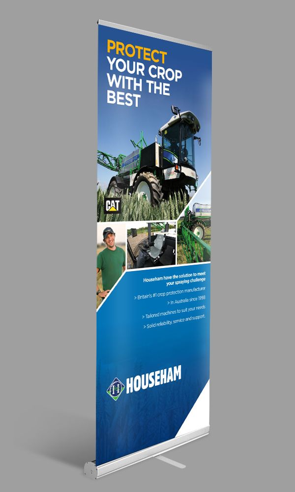 Direct Heading - strong imagery - vibrant colours. Strong pull up banner stand #profitinprint