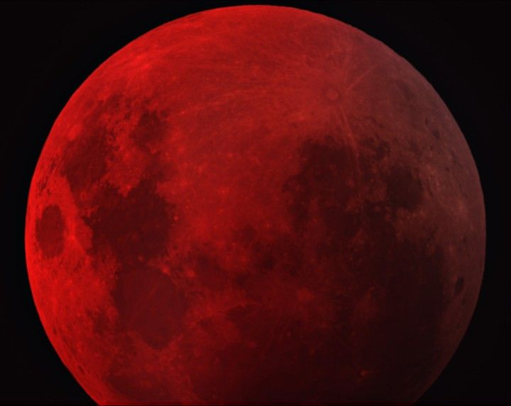 The Moon passed close to the center of Earth's shadow on August 28th, 2007. Seen best by skywatchers in western North America, and the Pacific region, the resulting total lunar eclipse was a dark one, lasting about 90 minutes.