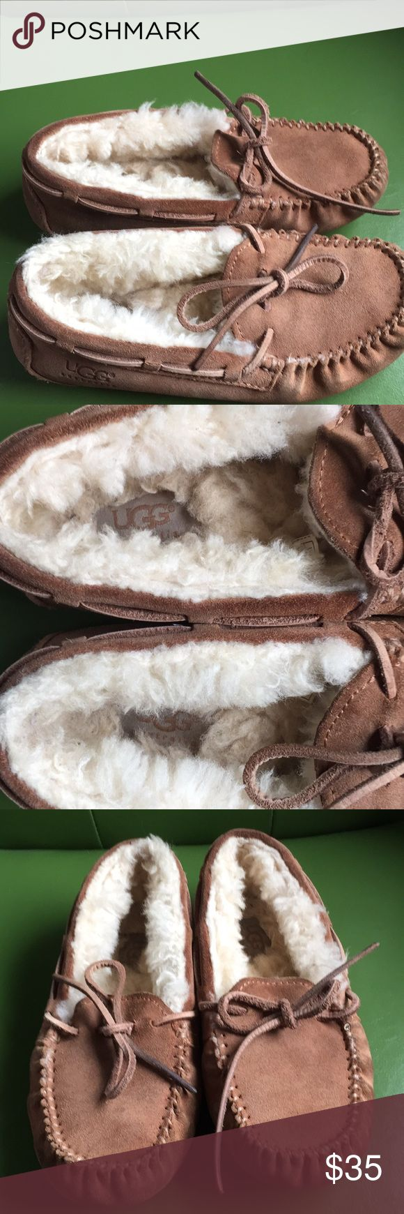 Ugg Shearling Slippers Size 1 Ugg Shearling Slippers,Size one, gently worn, traction sole, pictures are part of the description. UGG Shoes Slippers
