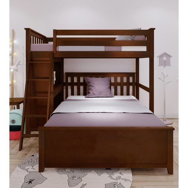 Geyer Twin Over Full L Bunk Bed Bunk Beds Twin Full Bunk Bed Bunk Beds With Stairs