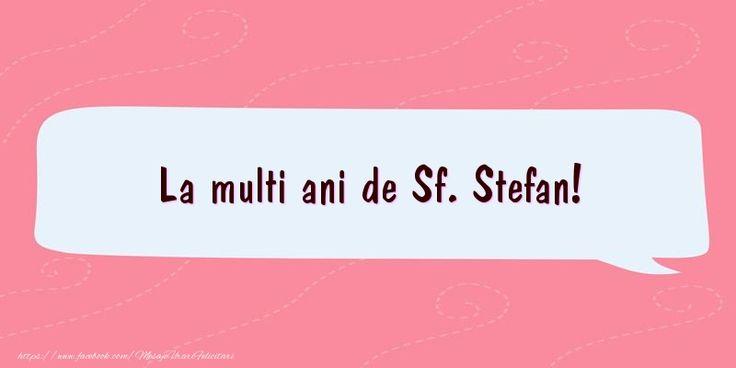 La multi ani de Sf. Stefan!