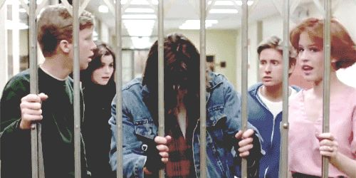 No one has ever looked that good flipping their hair. | 18 Reasons You Had A Crush On John Bender From The BreakfastClub