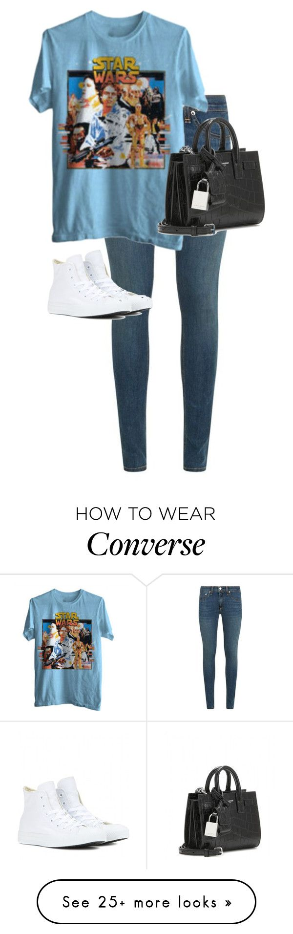 """Untitled #10348"" by alexsrogers on Polyvore featuring rag & bone, Converse and Yves Saint Laurent"