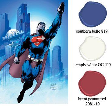 what paint color for superman bedroom   superman colors