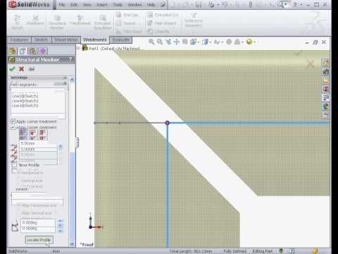 SolidWorks Tutorials - Introduction to Weldments - Structural Member (SolidWorks 2013) - YouTube
