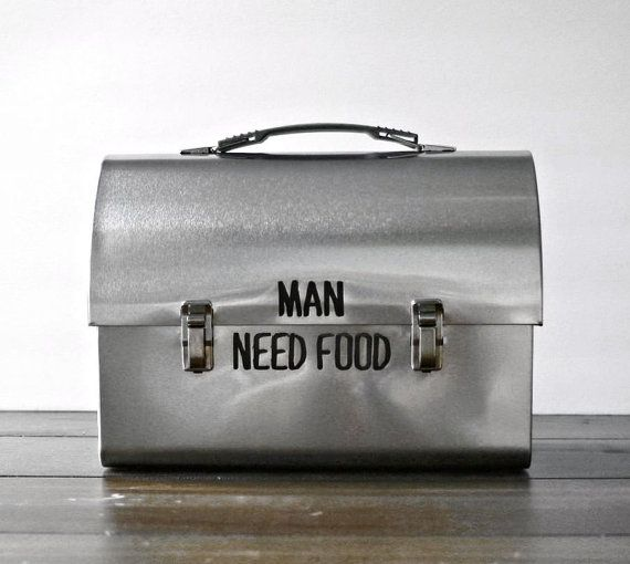 Mens Stainless Steel Metal Lunch Box - Personalized w/ your text, Man Gift, Husband Gift, Christmas Gift for Him Grandpa Working Food on Etsy, $30.42 AUD