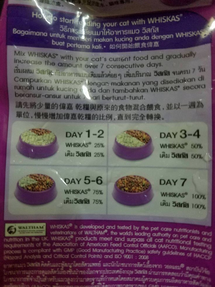 Cat food in Asia comes with instructions on how to wean your cat off rice.
