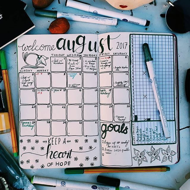 A full photo of my August spread just because I've never posted one (and I can't believe it's nearly September) #shecraftswords #scwaugust