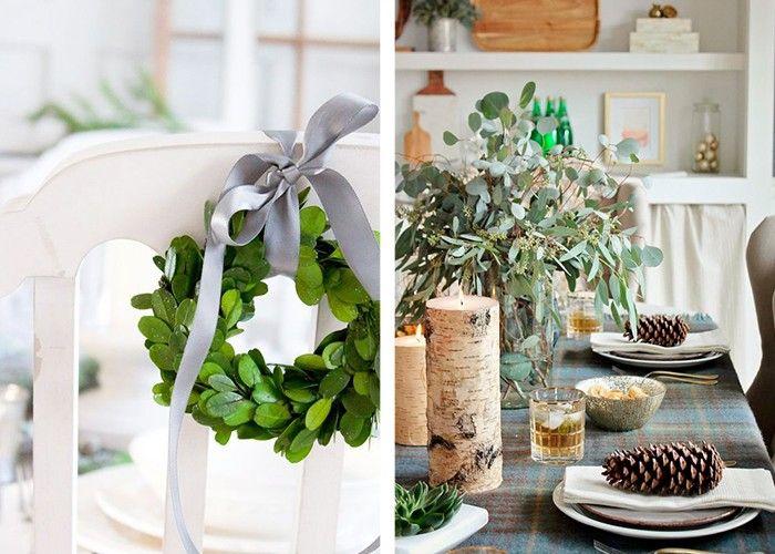 weihnachtliche tischdeko stilvolle dekoideen mit pflanzen
