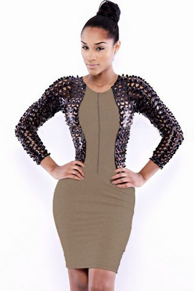 Prix: €13.68 Robes De Club Similicuir Resille Robe Moulante Pas Cher www.modebuy.com @Modebuy #Modebuy #CommeMontre #me #dress #sexy