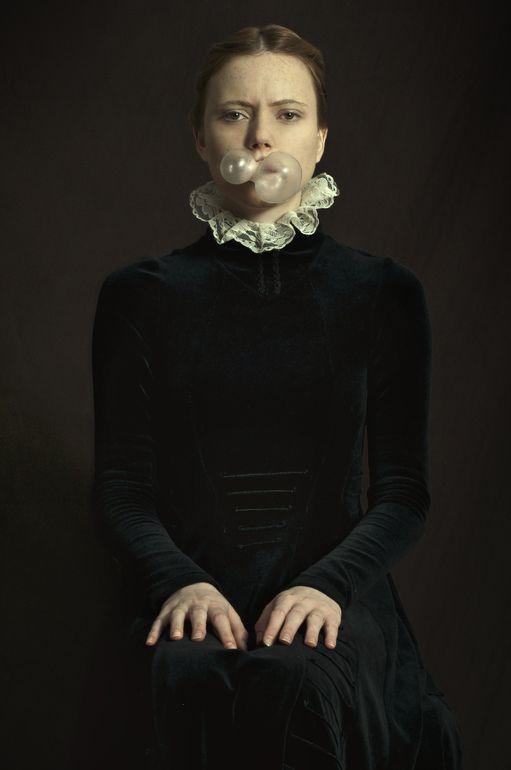 """Saatchi Art Artist: Romina Ressia; Color 2013 Photography """"Double Bubblegum"""" époque technique peinture hollandaise"""
