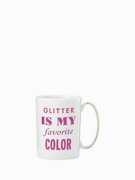 simply sparkling glitter is my favorite color mug | Kate Spade New York
