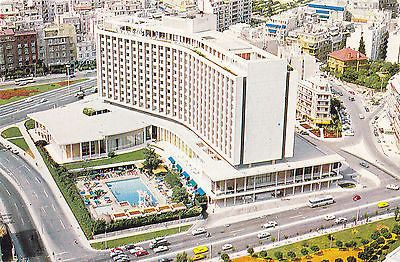 """ The Athens Hilton"" Vintage Postcard"