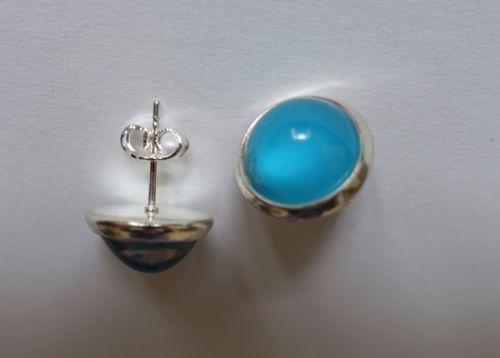 Handmade-earrings-blue-studs-ONE-OF-A-KIND