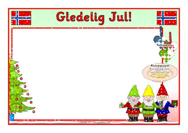 Christmas in Norway A4 Page Borders (SB12325) - SparkleBox