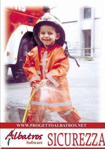 Sicurezza sui luoghi di lavoro - Logo del modulo antincendio  info: www.progettoalbatros.net