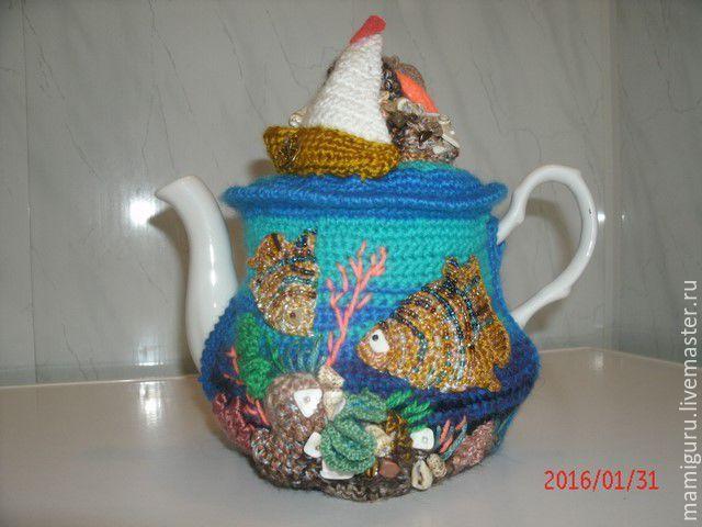 """Купить Грелка для чайника """"Don't worry, be heppy! - комбинированный, подарок на 23 февраля"""