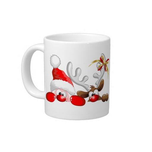 ☆SOLD!☆  #Funny #Santa and #Reindeer #Cartoon Extra Large #Mugs - Zazzle.com Many Thanks to the Customer!(ツ) http://www.zazzle.com/funny_santa_and_reindeer_cartoon_mug_specialty_mug-183356174098874743