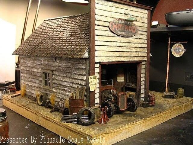 17 images about diorama on pinterest dollhouse for Garajes vintage