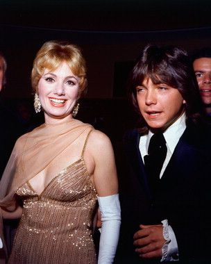 """David Cassidy and Shirley Jones ~ They turned out some pretty good pop music and we bought The Partridge Family Album. """"I Think I Love You"""" and """"I Can Hear Your Heartbeat"""" were faves."""