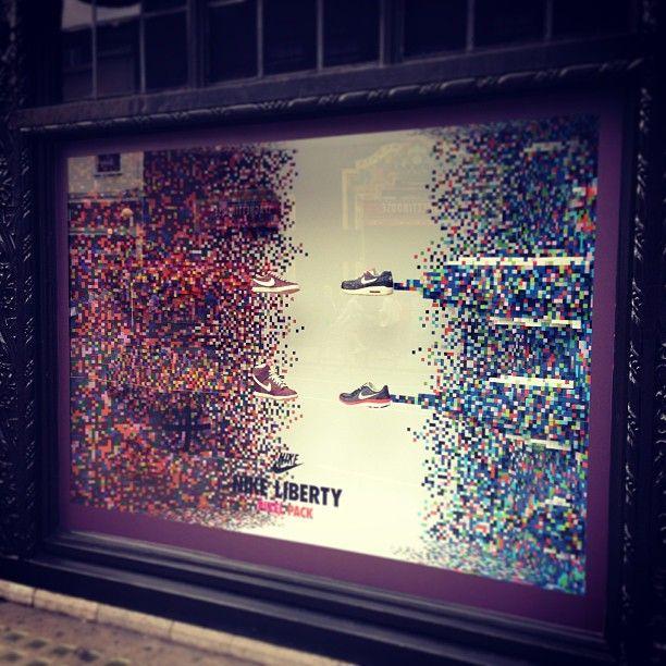 PIXEL PACK - #Nike X #LibertyPrint have taken flight in our windows