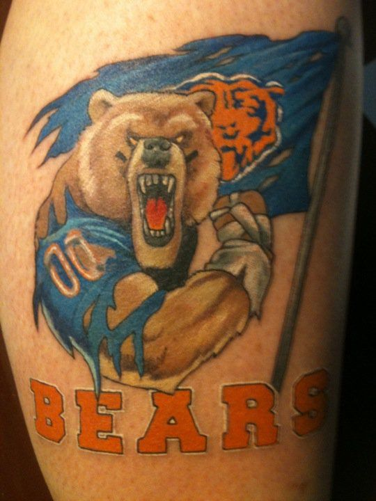 chicago bears tattoos | Chicago Bears Logo Tattoos