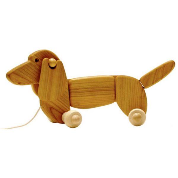 Τροχήλατο σκυλάκι κατασκευασμένο απο φυσικό ξύλο. Ιδανικό για τα πρώτα βήματα του μωρού σας, από 12 μηνών.