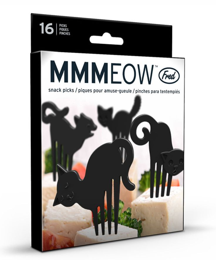 Black Cat Food Picks Set | zulily